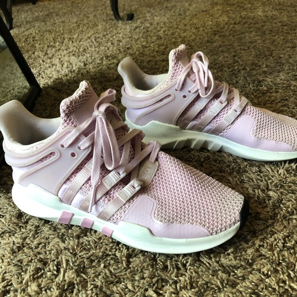 Baby pink adidas EQT trainers